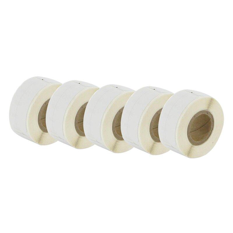 Bubprint 5x Etiketten kompatibel für Dymo 99017 12mm x 50mm (220 stück) Labelwriter 330 Series Labelwriter 450 Series