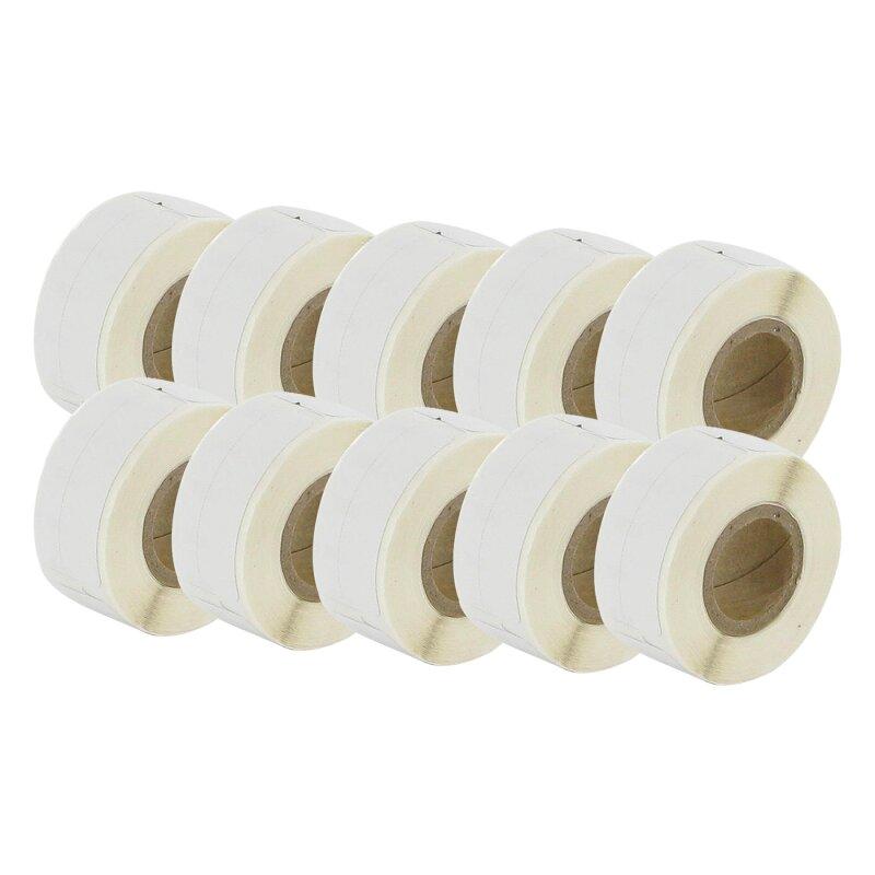 Bubprint 10x Etiketten kompatibel für Dymo 99017 12mm x 50mm (220 stück) Labelwriter 330 Series Labelwriter 450 Series