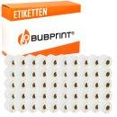 Bubprint 50x Etiketten kompatibel für Dymo 99015...