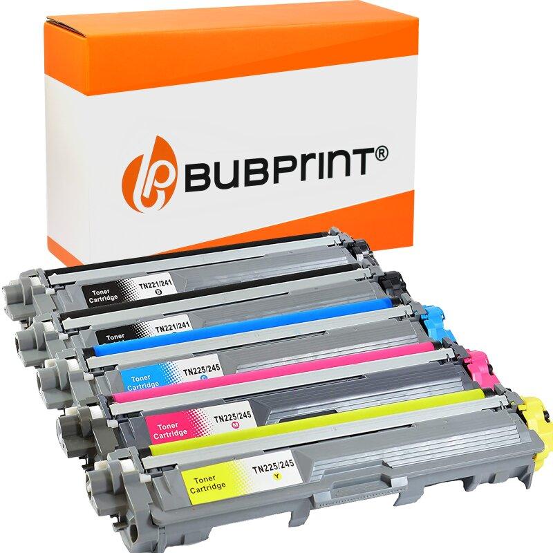 Bubprint 5 Toner kompatibel für Brother TN-241 TN-245 black cyan magenta yellow Brother HL-3150CDW, HL-3170CDW