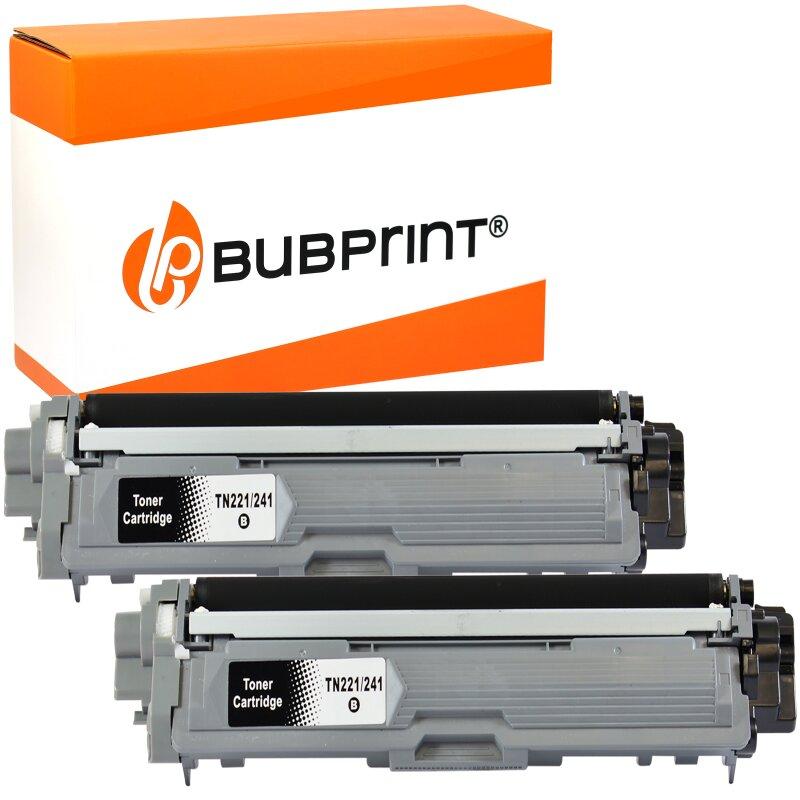 Bubprint 2 Toner black kompatibel für Brother TN-241 TN-245 Brother DCP-9020 CDW HL-3170 CDW 3140 CW MFC-9330 CDW 9340 CDW 9130 CW 9140 CDN