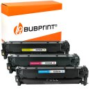Bubprint 3x Toner kompatibel für HP CC531A- CC533A...