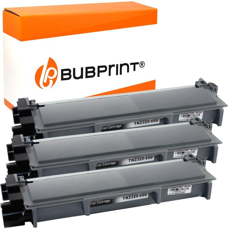 Bubprint 3 Toner kompatibel für Brother TN-2320 TN-2310 XXL (5200 S.) black