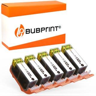 Bubprint 5 Druckerpatronen kompatibel für Canon PGI-525 BK mit Chip