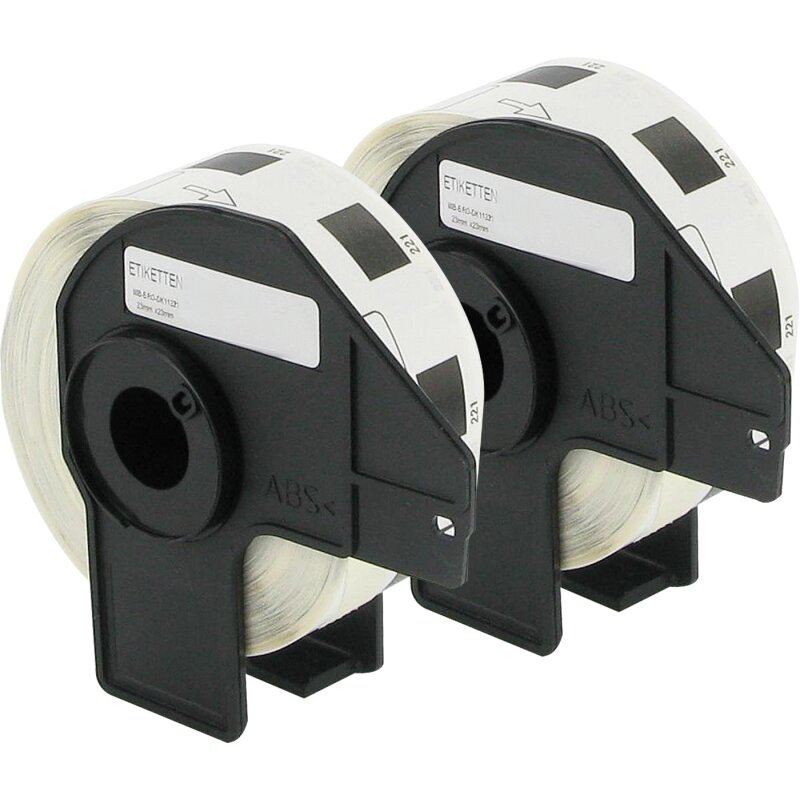 Bubprint 2x Etiketten kompatibel für Brother DK-11221 #1221 23mm x 23mm