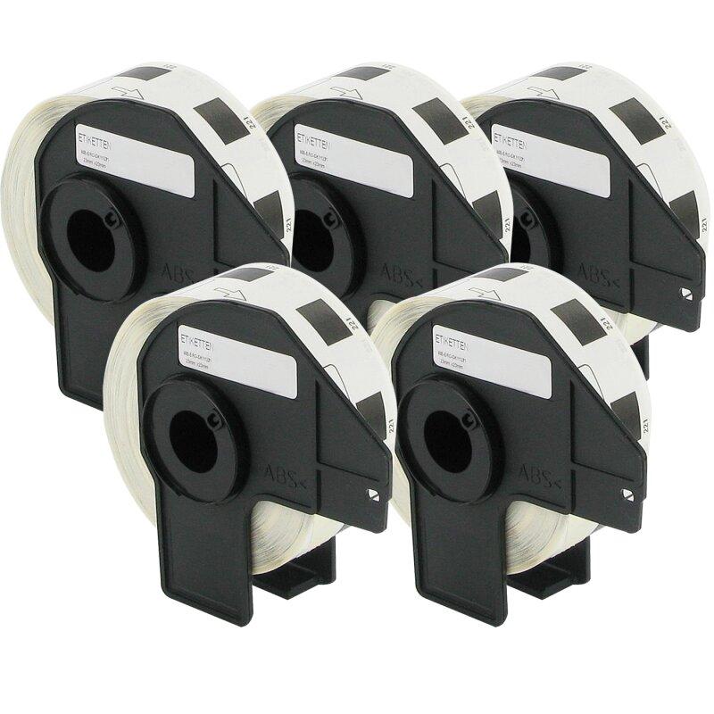 Bubprint 5x Etiketten kompatibel für Brother DK-11221 #1221 23mm x 23mm