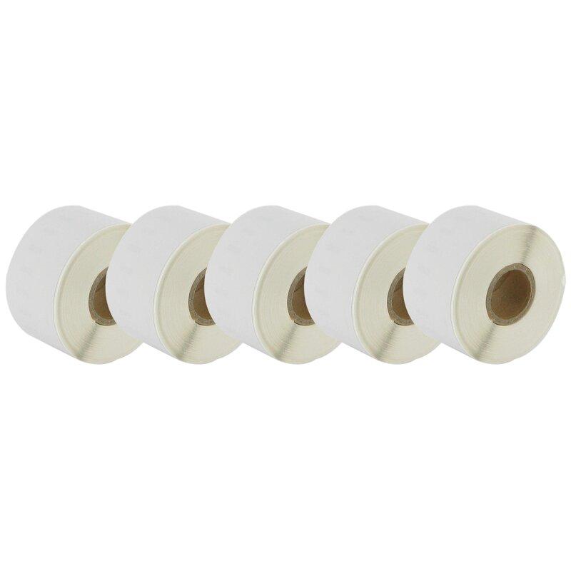 Bubprint 5x Etiketten kompatibel für Dymo 99018 38mm x 190mm (110 Stück) Labelwriter 450 Series Labelwriter 330 Series