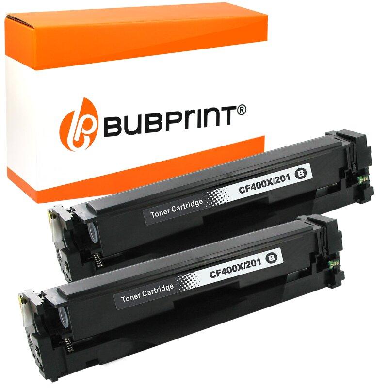 Bubprint 2x Toner kompatibel für HP CF400X LaserJet Pro M252dw M252N M274DN M274N M277N M277DW