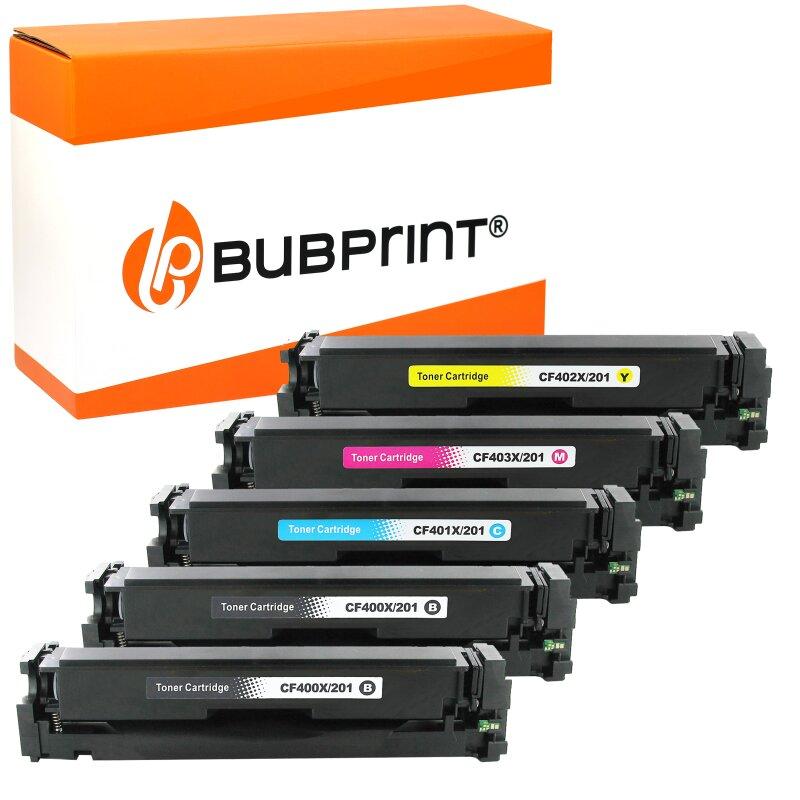 Bubprint 5 Toner kompatibel für HP CF400X-403X LaserJet Pro M252dw M252N M274DN M274N M277N M277DW