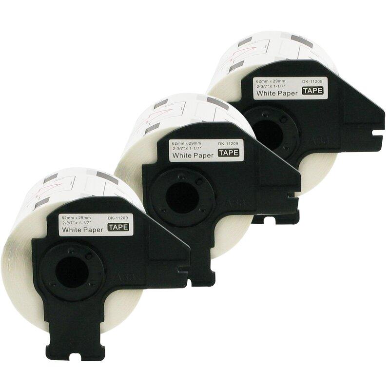 Bubprint 3x Etiketten kompatibel für Brother DK-11209 #1209 62x29mm P-Touch QL1050 P-Touch QL500 P-Touch QL800