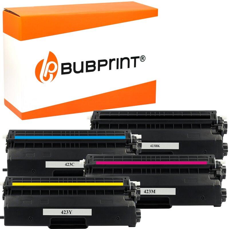 Bubprint 4x Toner kompatibel für Brother TN-423 black cyan magenta yellow HL-L 8360 CDW MFC-L 8690 CDW MFC-L 8900 CDW