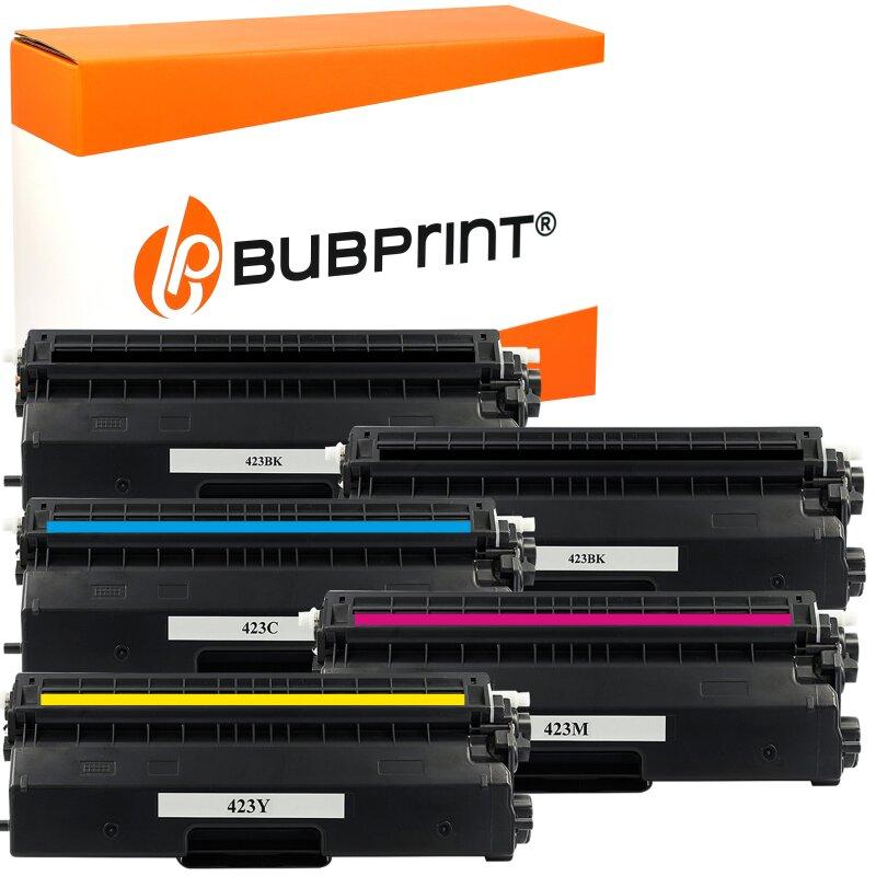 Bubprint 5x Toner kompatibel für Brother TN-423 black cyan magenta yellow HL-L 8360 CDW MFC-L 8690 CDW MFC-L 8900 CDW