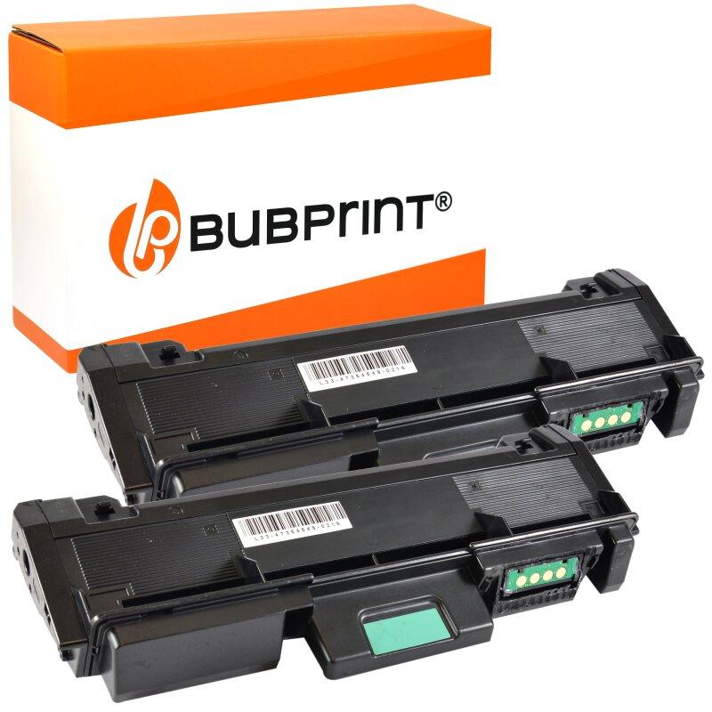 Bubprint 2x Toner black kompatibel für Samsung MLT-D116 /ELS MLT-D 116 SL-M 2625