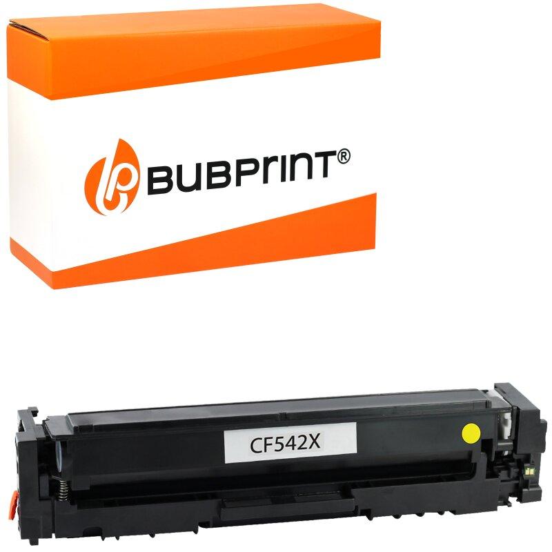 Bubprint Toner kompatibel für HP CF542X Yellow für Color LaserJet Pro M280 M281
