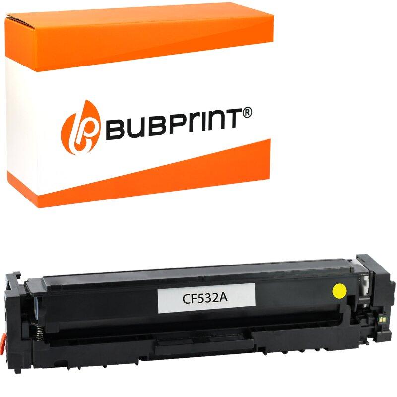 Bubprint Toner kompatibel für HP CF532A Yellow für Color LaserJet Pro M180N M181FW
