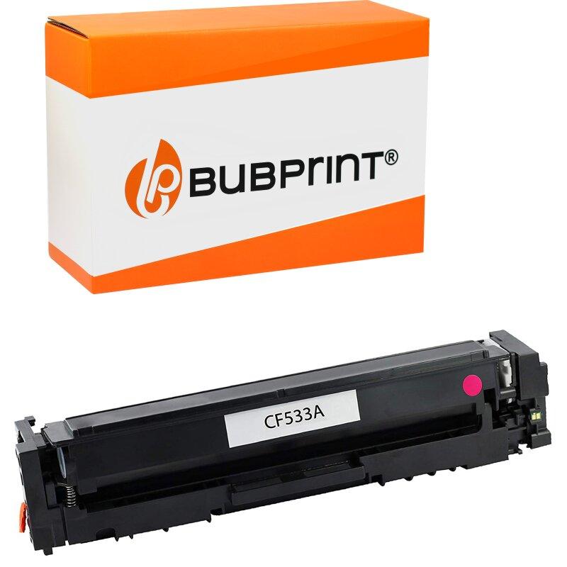 Bubprint Toner kompatibel für HP CF533A Magenta für Color LaserJet Pro M180N M181FW