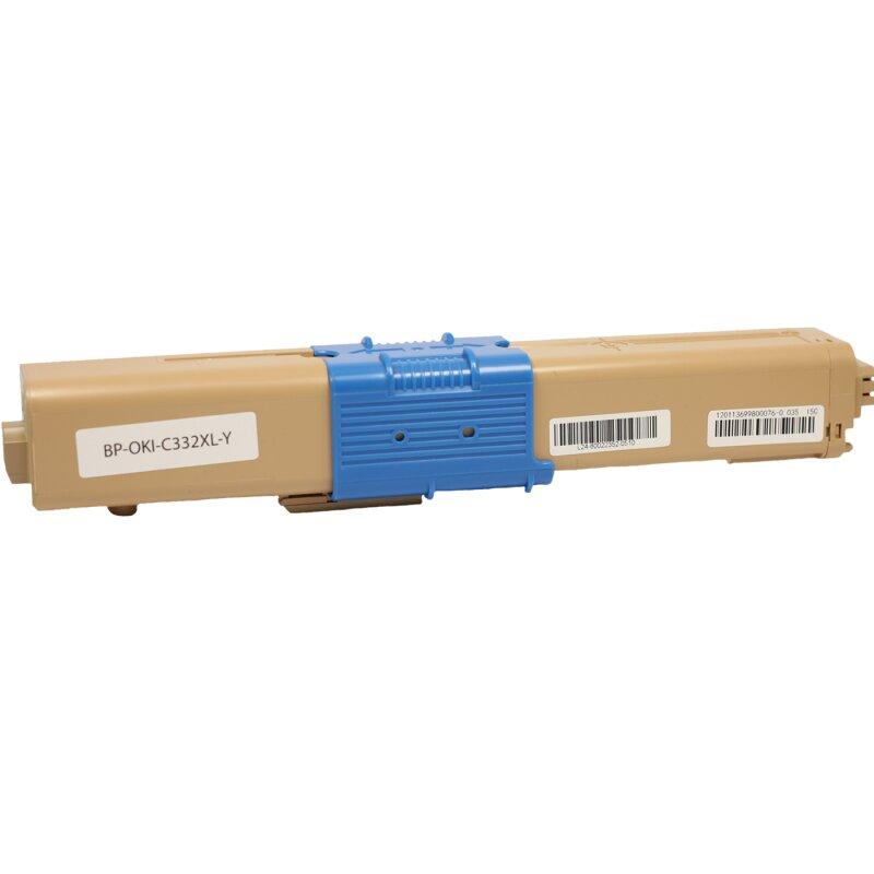 Bubprint Toner kompatibel für OKI C332 XL Gelb