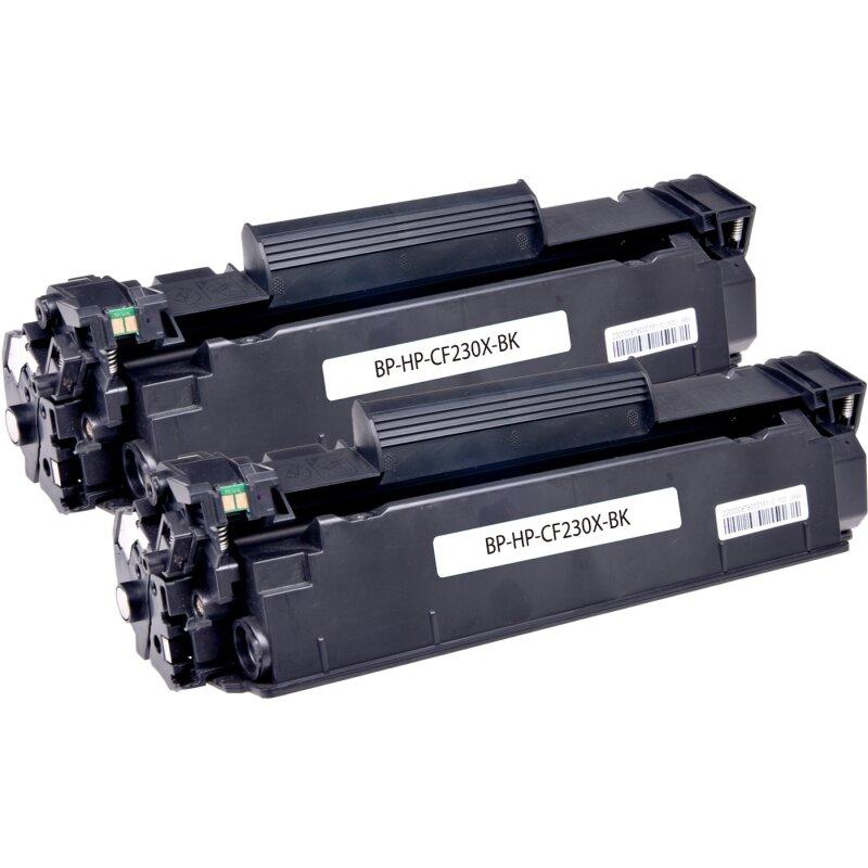 Bubprint 2 Toner kompatibel für HP CF230X Schwarz/Black 2x 3,5K Seiten