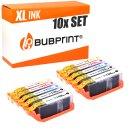 Bubprint 10 Druckerpatronen kompatibel für Canon...