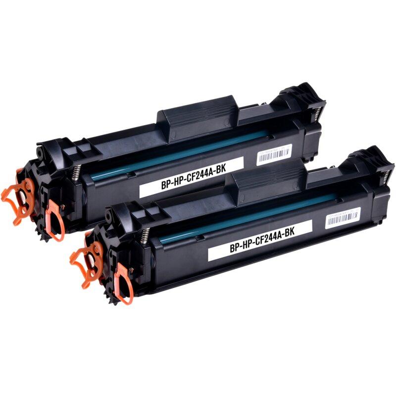 Bubprint 2 Toner kompatibel für HP CF244A 44A Schwarz