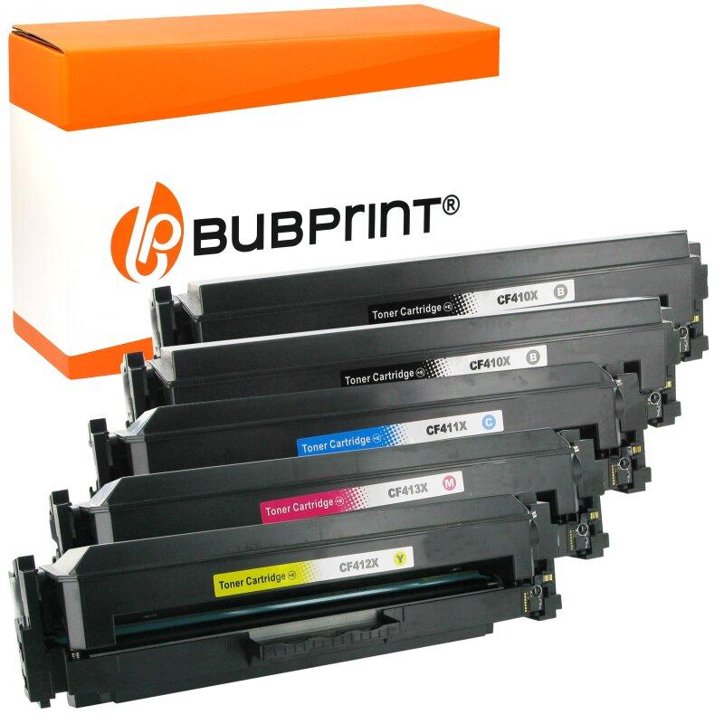 Bubprint 5 Toner kompatibel für HP CF410X XL – 413X XXL
