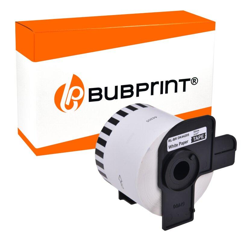 Bubprint Etiketten kompatibel für Brother DK-44205 62mm x 30,48m