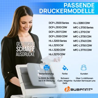 Bubprint 4 Toner kompatibel für Brother TN-247 Set