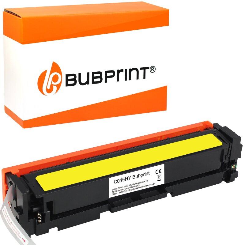 Bubprint Toner kompatibel für Canon 045H Gelb