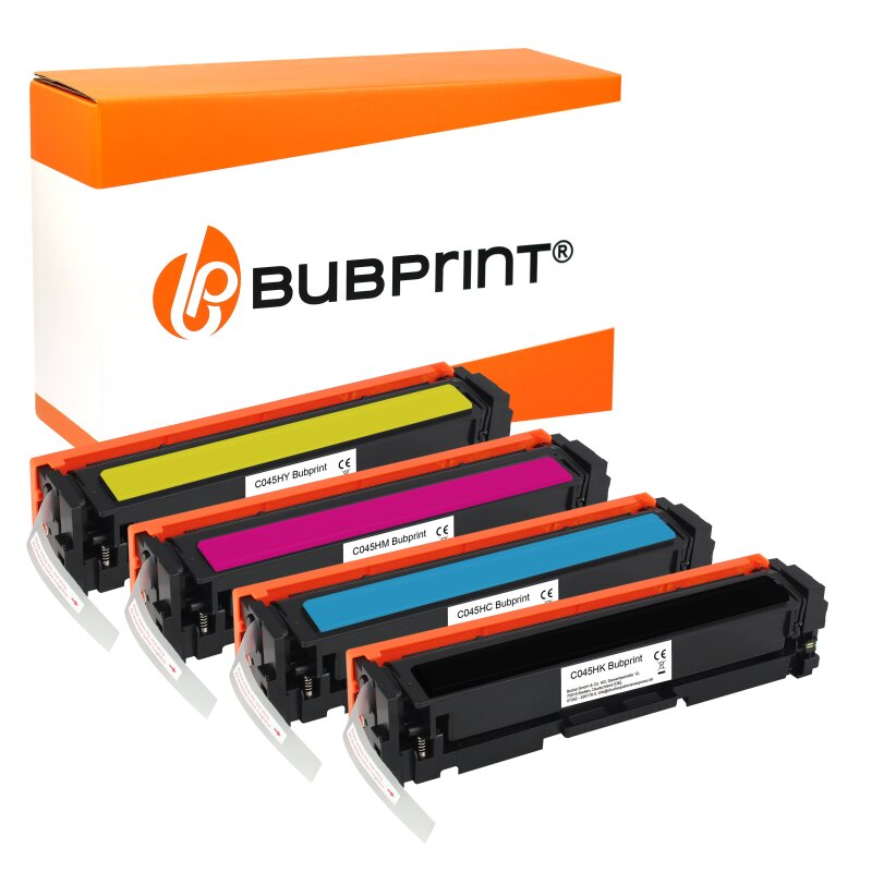 Bubprint 4 Toner kompatibel für Canon 045H Set
