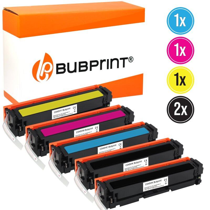 Bubprint 5 Toner kompatibel für Canon 045H Set