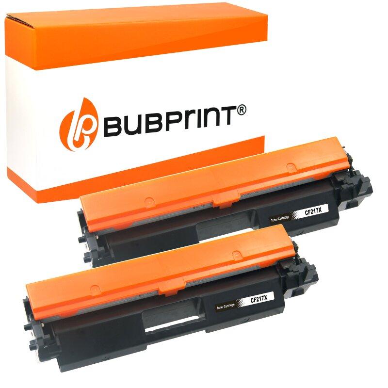 2 Bubprint Toner kompatibel mit HP CF217X 17X Schwarz 6.000 Seiten